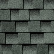 Close up photo of GAF's Timberline HD Slate shingle swatch